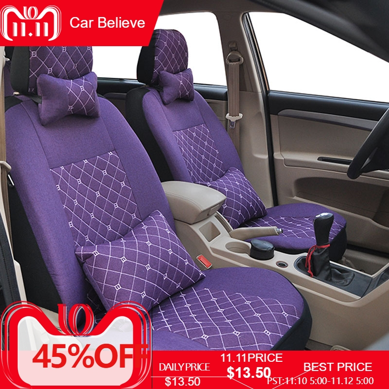 цена на Car Believe car seat cover For Fiat linea grande punto palio albea uno 500 freemont car accessories covers for vehicle seats