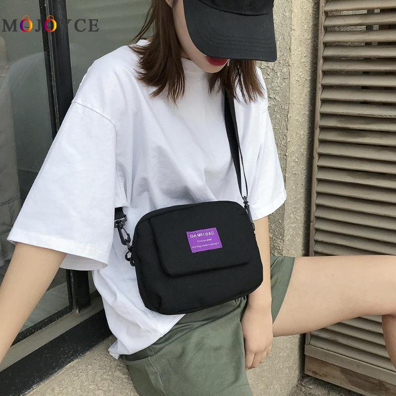 Simple Small Canvas Shoulder Bag For Female Messenger Handbags Women Casual Crossbody Bag