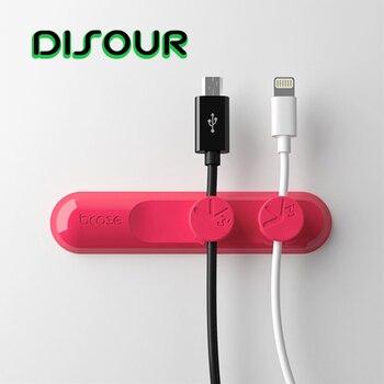 Detour organizador de Cable magnético para USB Cable de datos auriculares con Cable auriculares Cable de ratón enrollador de escritorio Gestión del soporte del Cable