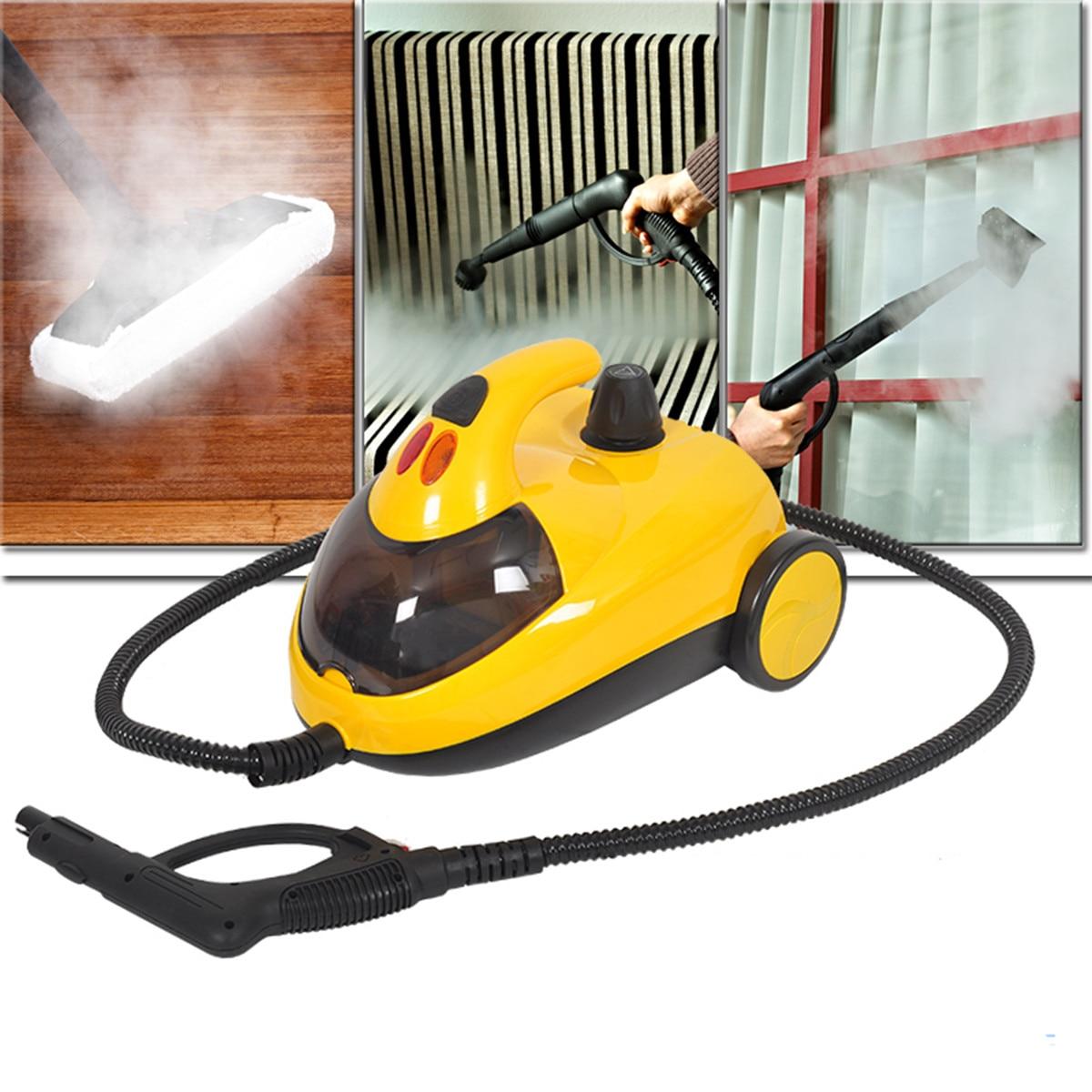 13in1 High Pressure Steam 1800W AU220V 1.5L4.0 Bar Floor Carpet Cleaner Washer Cleaning Machine 360 Wheel for Clean Bathroom Car