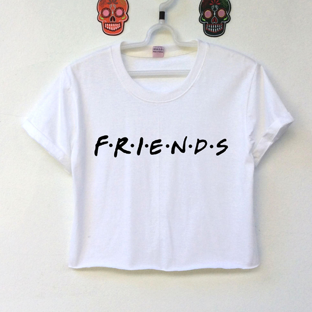 743a248aea7 Summer Women T Shirt Fashion Casual O Neck Short Sleeve Printed Ladies T-shirt  harajuku Crop Top Best Friends T Shirt