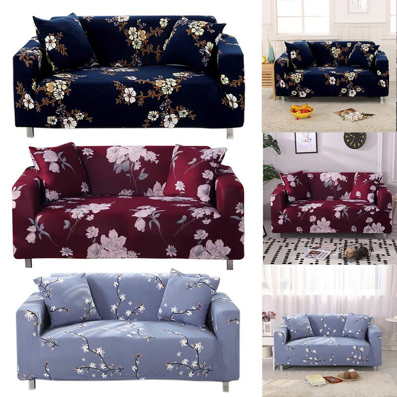 UK 1 2 3 Seater Solid Elastic Soft Sofa Couch Covers Stretch Slipcover Protector
