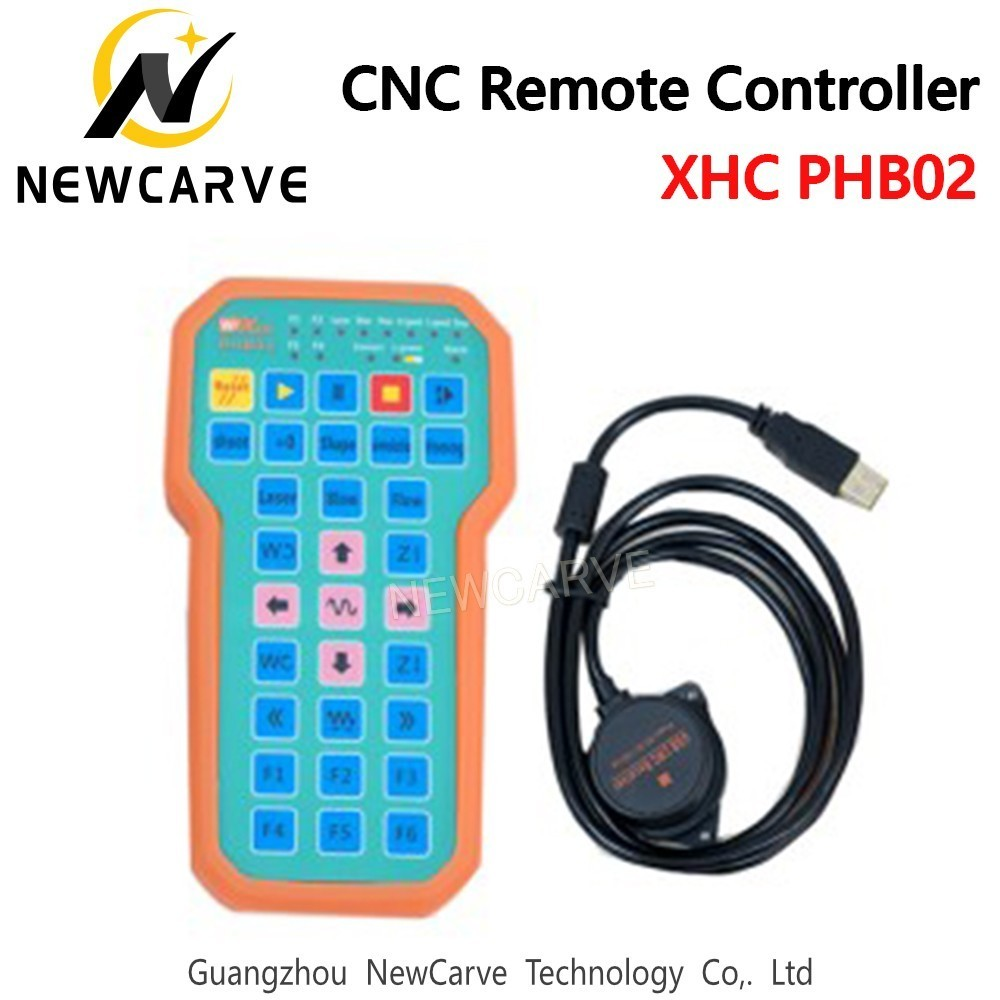 XHC Remote Controller PHB02 For CNC System Factory  USB  Wireless Handhold Pendant For Laser Cutting/Engraving Machine NEWCARVE|CNC Controller| |  - title=