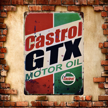 Home Decor GTX Motor Oil Vintage Metal Sign Wall Art for Garage Pub Cafe Wall Sticker Beer Tin Signs Size:20*30 CM