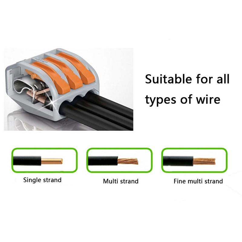 Enjoyable 100Pcs Box Universal Compact Wiring Terminal Block Mini Fast Wiring Cloud Hisonuggs Outletorg
