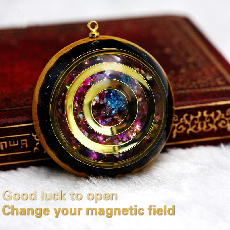 Image 5 - Orgonite Energy Reiki Stone Necklace Pendant Good Luck Bringer's Help Love Feelings Necklace Mysterious Harajuku Chakra Jewelry-in Pendants from Jewelry & Accessories