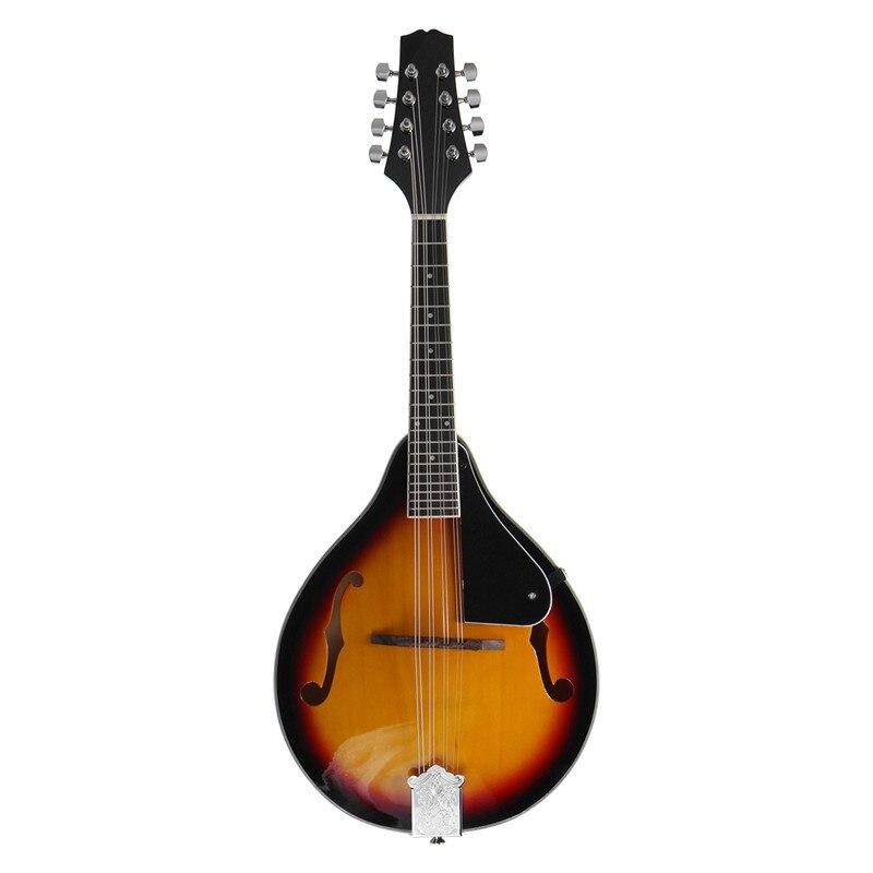 SENRHY coucher de soleil couleur palissandre 8 cordes F trou guitare basse électrique 20 Fret ukulélé pour les amateurs d'instruments à cordes musicales chaud - 2