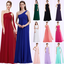 Bridesmaid-Dresses Ever Pretty A-Line One-Shoulder Wedding Chiffon Elegant Long Madrinha