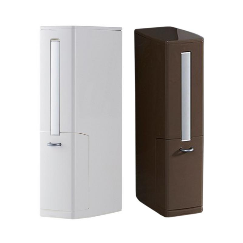 Bathroom Supplies Trash Can Toilet Brush Integrated Storage Holder Box Toilet Trash Basket Brush Garbage Container
