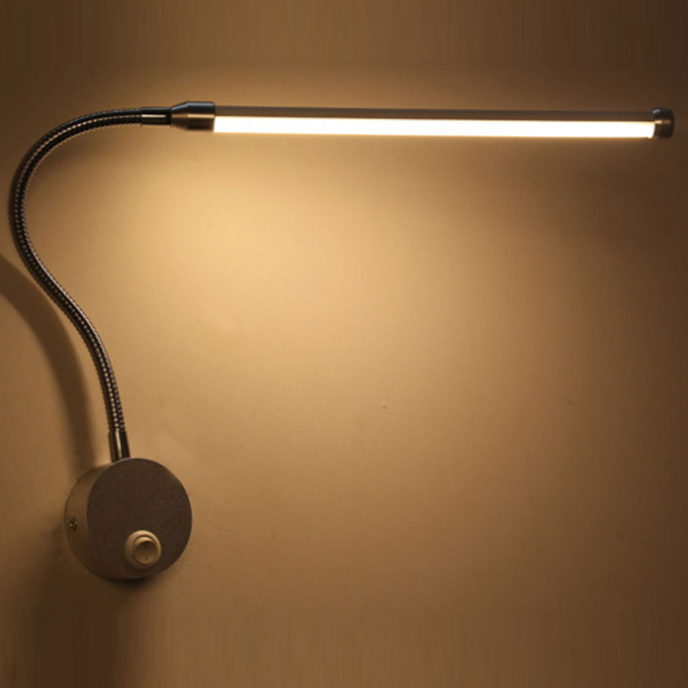 Image 2 - Modern Bedroom Bedside Reading Lighting 360 Degree Angle Adjustable 6W LED Reading Wall Lamps With Knob Switch 90 260VLED Indoor Wall Lamps   -