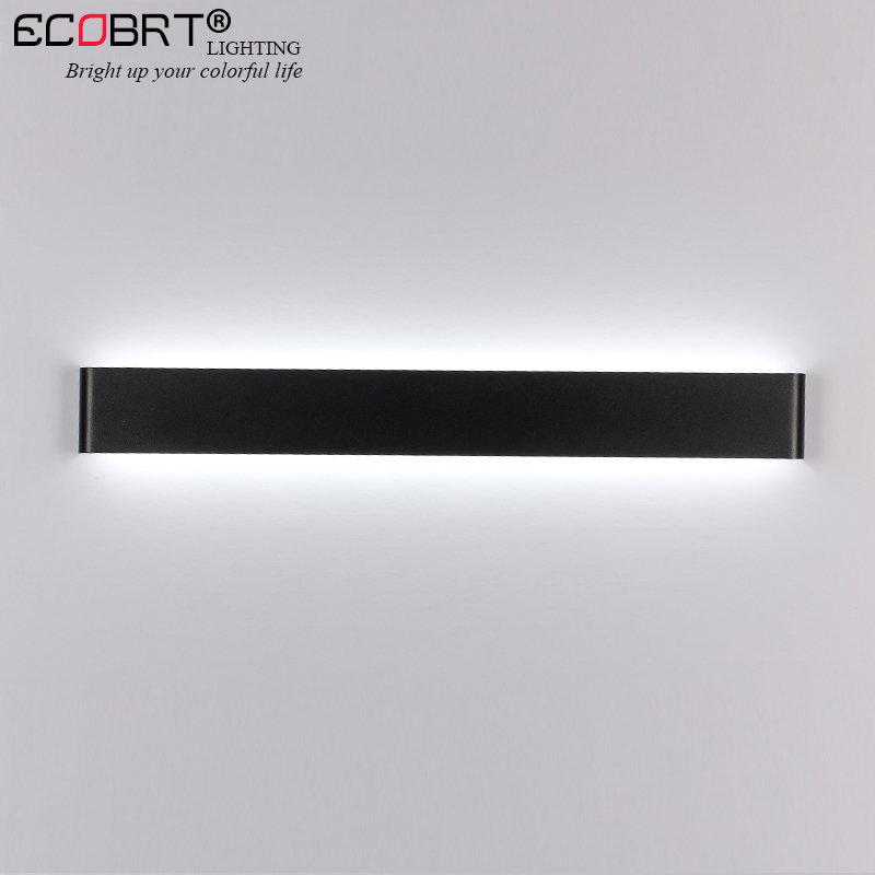 Us 129 36 23 Off Aluminum Led Bar Lights Wall Mounted In Bathroom 24w 72cm 100 240v Decoration White Black Sconces Indoor Lighting