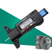 الرقمية الإطارات مقياس عمق الخطوات متر مقياس شاشة الكريستال السائل فقي الإطارات تستر للسيارات الشاحنات المدى 0 25 مللي متر