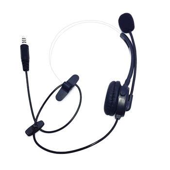 Mic Headphone Headset With Nato Plug For U94 Ptt For Kenwood Motorola Yaesu Radios