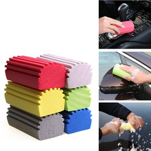 6Pcs/Set Multifunctional Car Wash PVA Strong Water Absorption Auto Cleaning Sponge Random Color