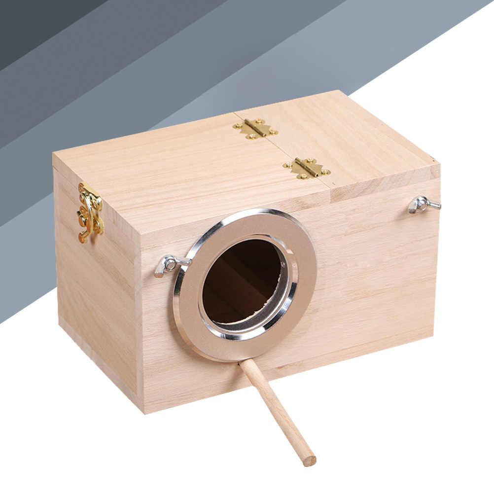 1 шт. природа прозрачный вид окна Премиум прочный деревянный птица коробка для птиц птица смотреть поле птичий домик Птица Попугай коробка птица дом