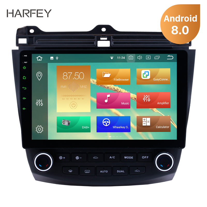 Harfey Android 8 0 8 1 10 1 Car GPS Radio For Honda Accord 7 2003