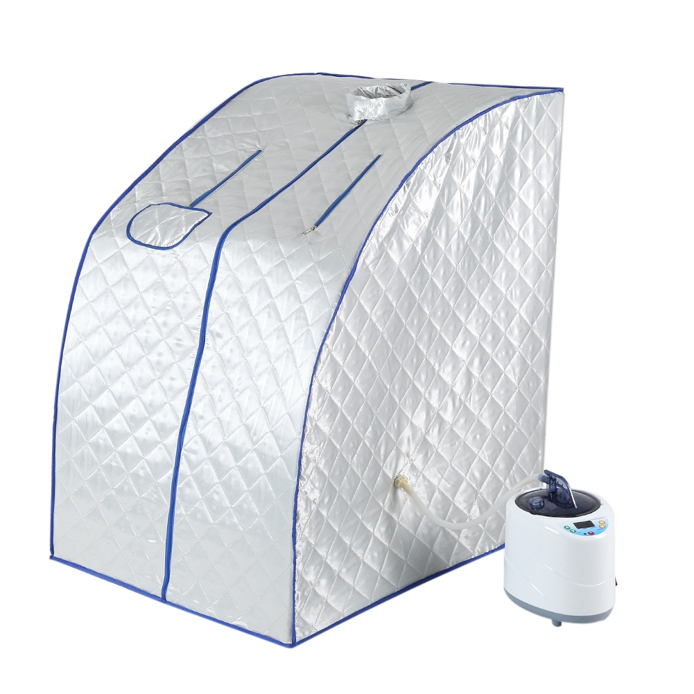 220V 2L Portable Steam Sauna Home Sauna Generator Slimming Household Sauna Box Ease Insomnia Stainless Steel Pipe Support