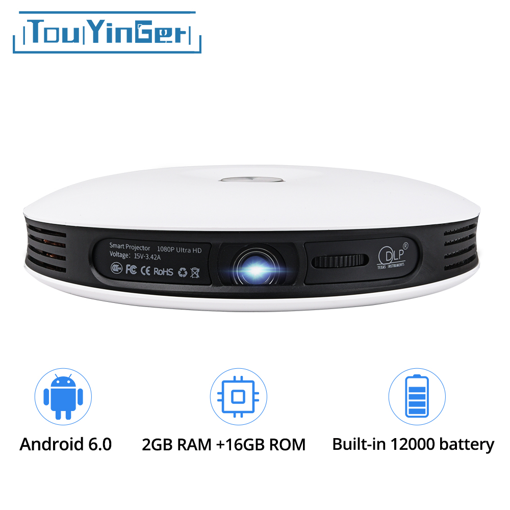 TouYinger G4 200 ''Mini Portatile Android 3D Proiettore DLP Full HD 4 k video wifi Bluetooth 1280x800 HDMI HA CONDOTTO il Proiettore Home cinema