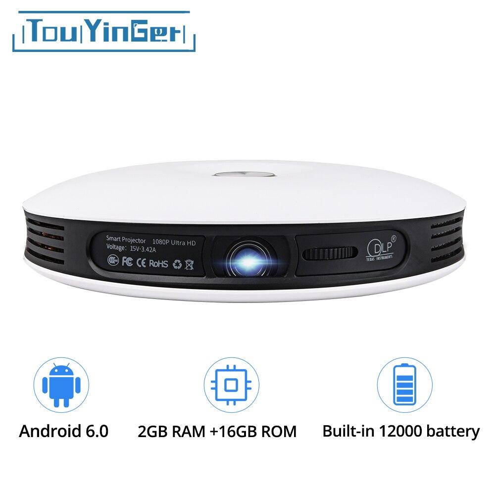 TouYinger G4 200 ''Mini Portable Android 3D DLP Projecteur Full HD 4 k vidéo wifi Bluetooth 1280x800 HDMI LED Home cinéma Projecteur
