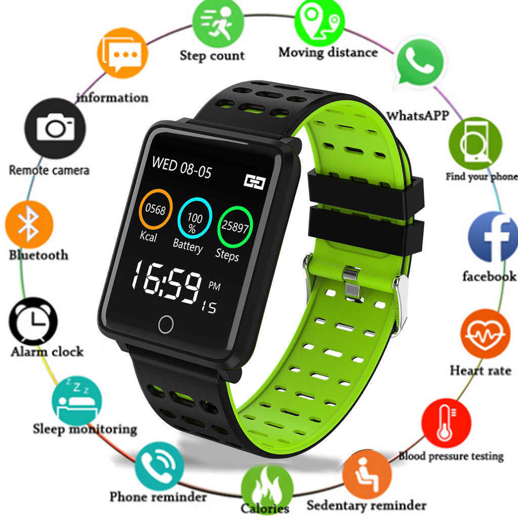 F3 Sport Watch Fitness Tracker Color Screen Heart Rate Blood