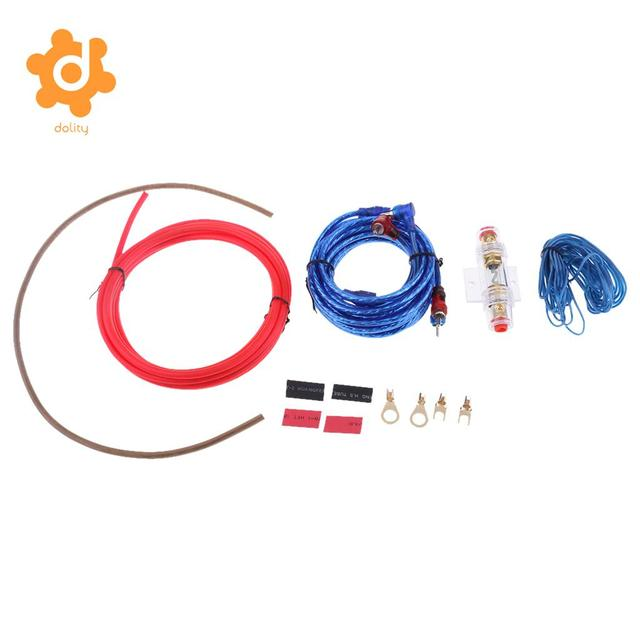 Cheap dolity Car Audio Amplifier Cable Speaker 10GA Wiring Kits with 60 AMP Fuse Holder