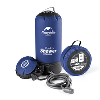 Naturehike 11L Pvc Outdoor Inflatable Shower Pressure Shower Water Bag Portable Camp Shower Lightweight Travel PVC Water Storage