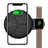GIVENONE 2 in 1 QI Wireless Charger For iPhone X XS Max XR 8 Fast Charger For Apple Watch 4 3 2 Wireless Charger Stand