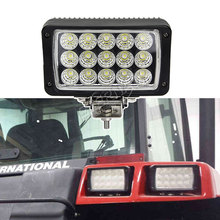 free shipping 12pcs 45W 4x6 tractor headlight truck trailer agriculture vehicles construction heavy duty LED work lamp