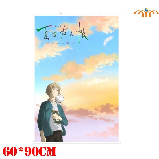 OHCOMICS Natsume Yuujinchou Hanging Painting Scroll Painting Hanging Poster Canvas Poster Home Art Decoration Creative Poster