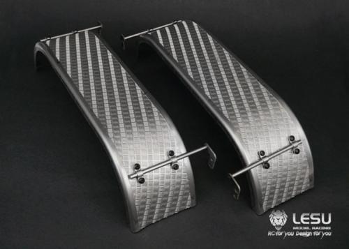 Partes de LESU guardabarros trasero de Metal para 1/14 RC DIY Tmy 3348 Dumper camión modelo TH10227-in Partes y accesorios from Juguetes y pasatiempos    1