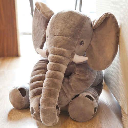 Bebek çocuk yumuşak fil yastık peluş oyuncaklar şeyler lomber yastık uzun burun bebek