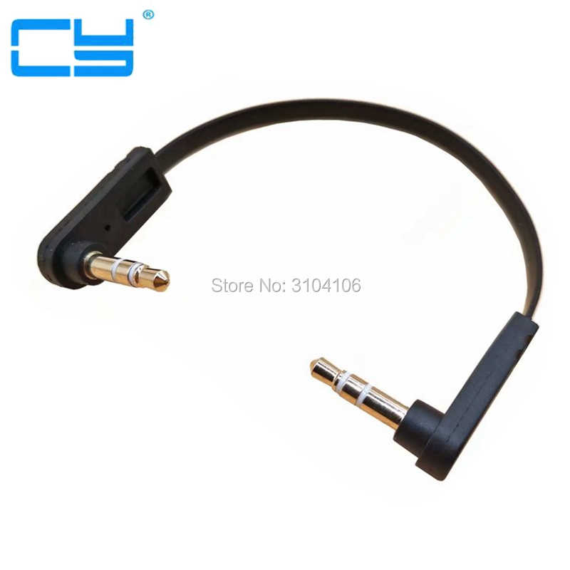 Cable de Audio 3,5mm macho a macho estéreo cabeza AUX Audio Kit 15CM doble codo negro I Key comprar