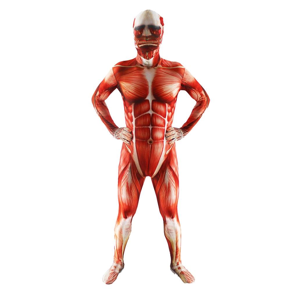 Muscle Muscular Zentai Suit Bodysuit Muscle Man Cosplay Costume Breathable Men's Full Body Lycra Flesh Zentai Halloween Costumes