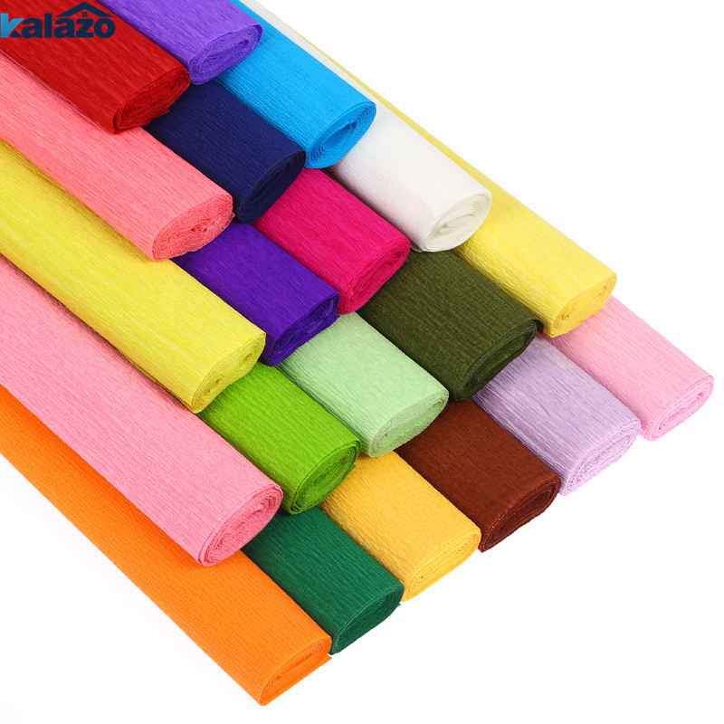 1 Roll 250*50cm Wrinkle Paper Arts Craft DIY Paper Flower Toy Wrapping  Rolls Creping Paper Childred Diy Toys Supplies