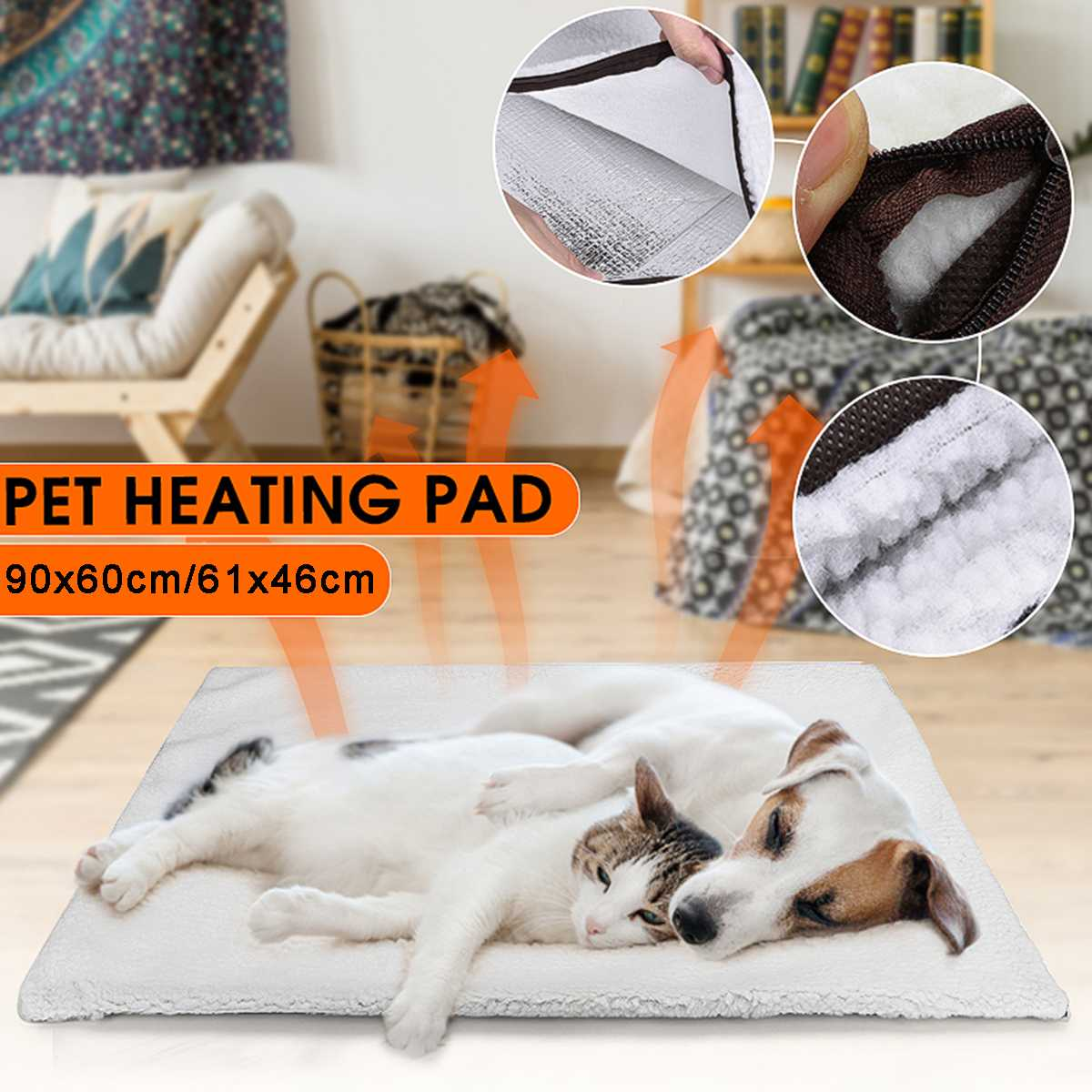 Dog Beds That Look Like Rugs: Self Heating Mat Pet Dog Bed Warming Cat Rug Thermal