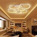 Salon Home Deco Runde Beleuchtung Große Led Ring Hängen Decke Licht Lampe Dimmbar Fernbedienung Für Zeichnung Wohnzimmer Bett Zimmer-in Pendelleuchten aus Licht & Beleuchtung bei