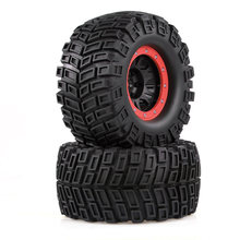 2pcs AUSTAR 165mm 3.8 Inch RC Rubber Sponge Tires Tyre Rim Wheel for 1/8 HSP HPI Traxxas RC Off-road Car Crawler(China)