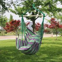 1-2 Person Swing Chair Garden Hammock Canvas Fabric Hanging Bed Camping Hunting Sleeping Swing