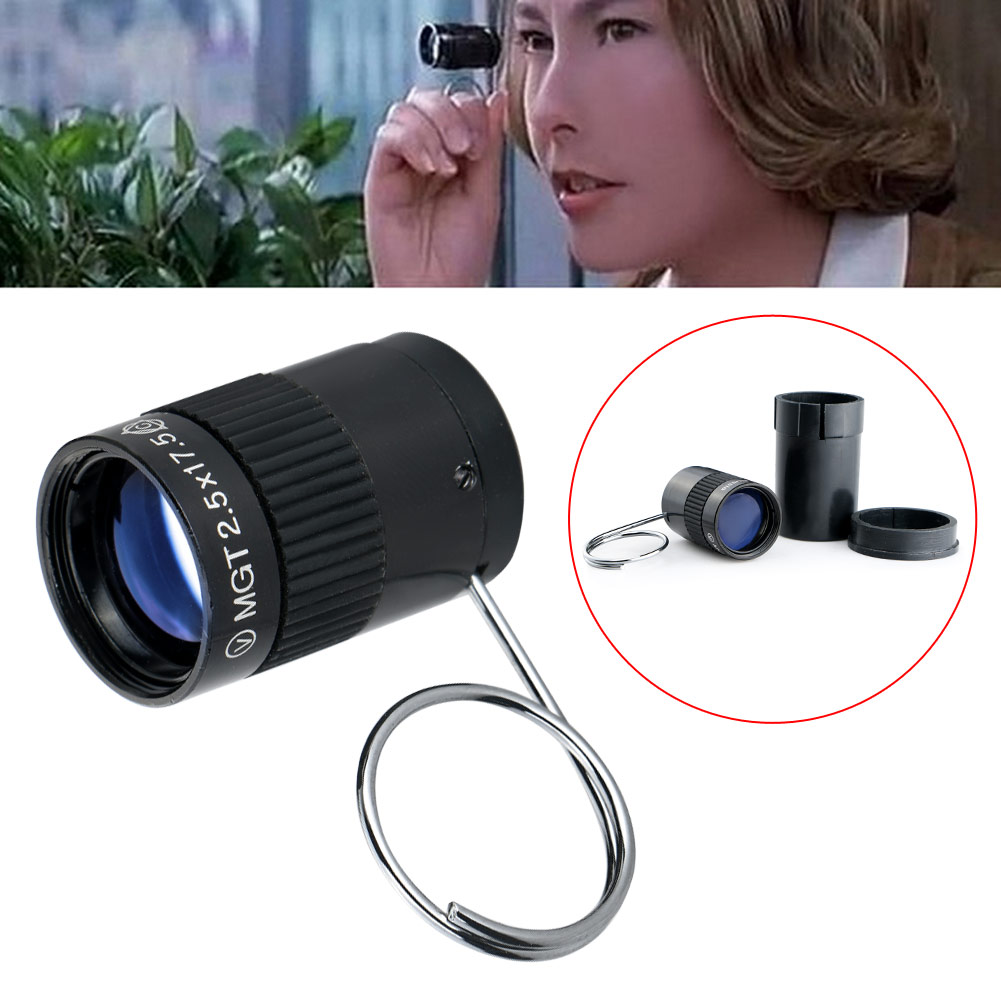 Brand New Subminiature Mini Monocular Telescope 2.5X17.5HD High Power Pocket Key Chain Telescope for Outdoor Hiking Camping