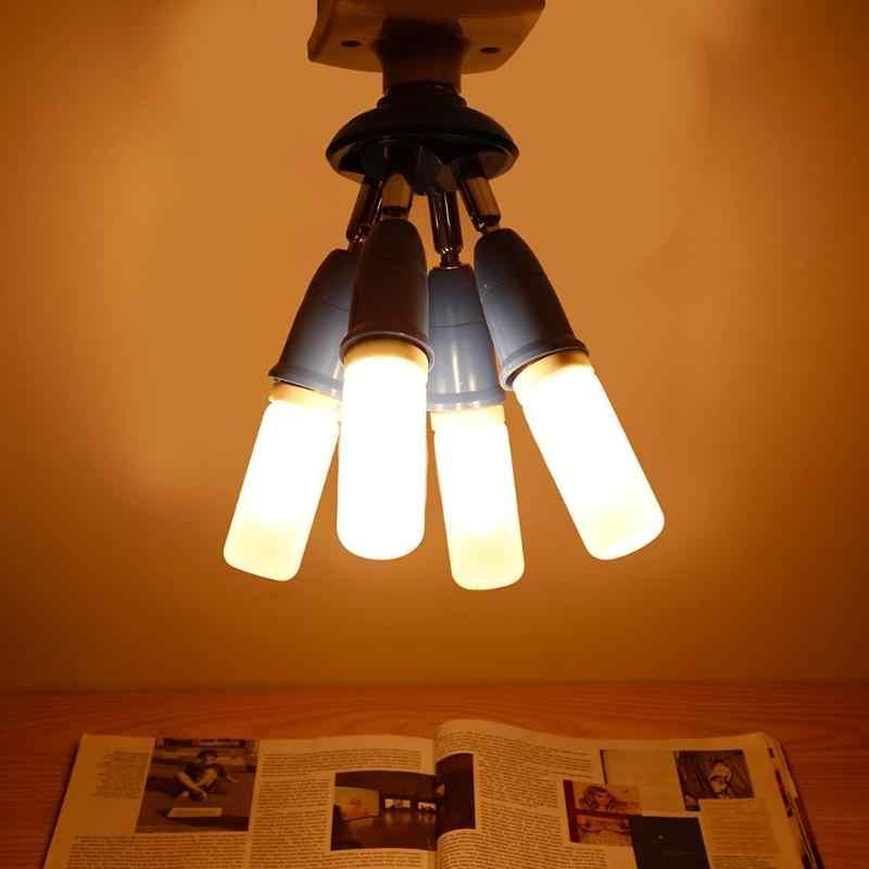 От 1 до 4 Вращающаяся лампа база держатель Гибкая E27 лампа адаптер расширение конвертер стенная база болт крепления гнездо