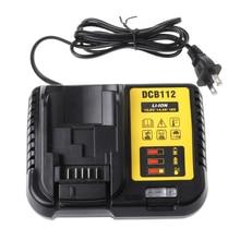 цена на Dcb112 Li-Ion Battery Charger For Dewalt 10.8V 12V 14.4V 18V Dcb101 Dcb200 Dcb140 Dcb105 Dcb200 Black