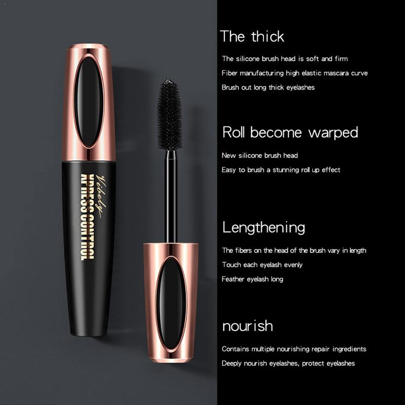 4D Mascara Waterproof Mascara Makeup Cosmetic Quick Dry Thick Slender Not Blooming Natural Curl Beauty Products Makeup