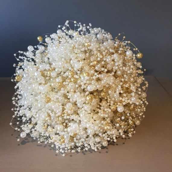 5 м DIY гирлянда искусственный жемчуг бисер цепочка украшение для свадебного стола центровые принадлежности букет невесты аксессуары для волос цветок
