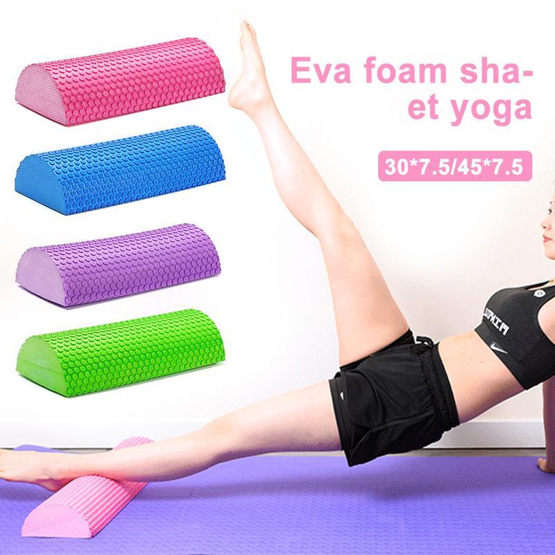 ★  Yoga Block Massage EVA Пенный Вал Yoga Pilates Тренажеры Роликовые Блоки Тренажерный Зал Домашние Уп ①