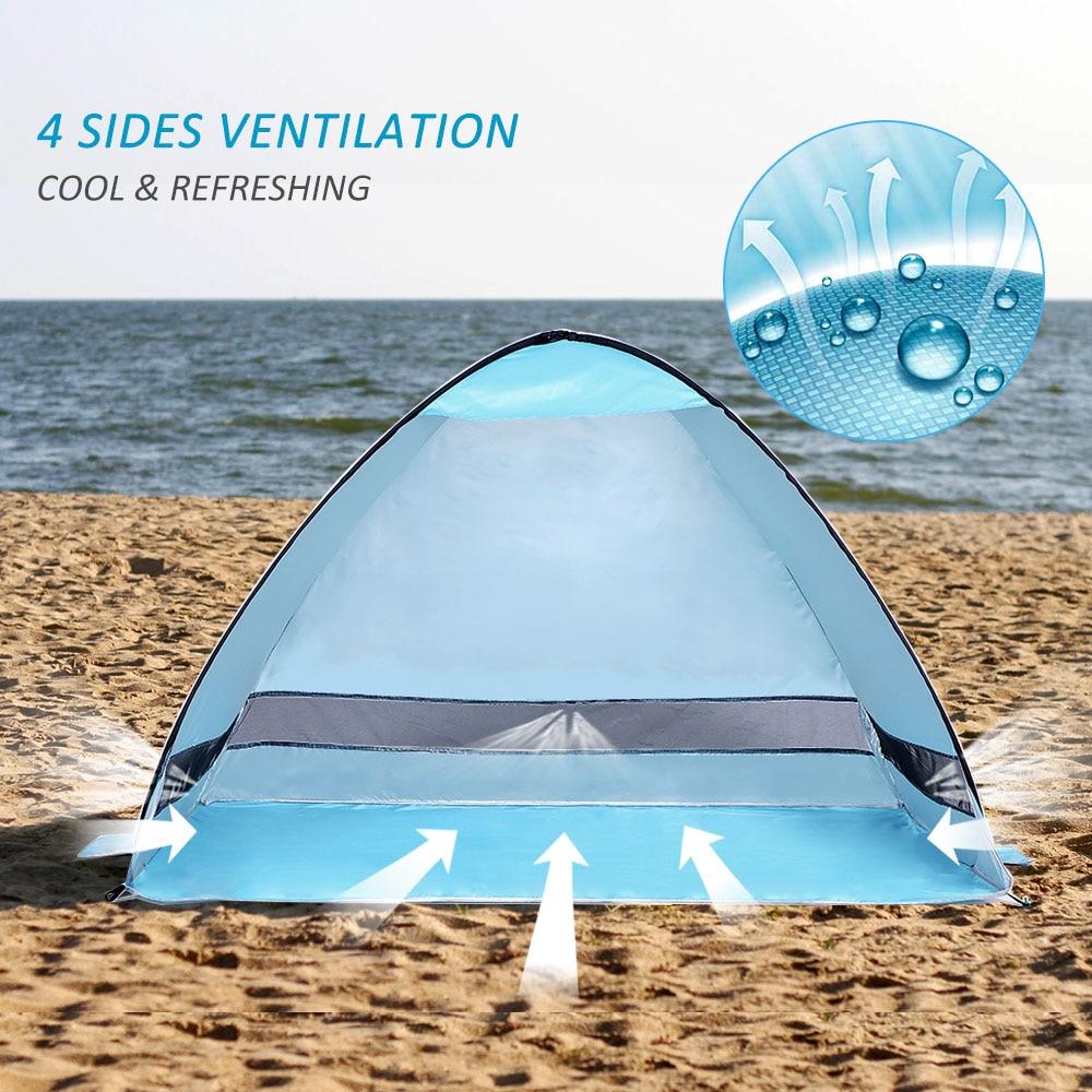 New Lixada Instant Pop Up Beach Tent Lightweight UV Protection Sun Shelter Tent Sunshade Canopy 4 person Outdoor Sunshelter Tent