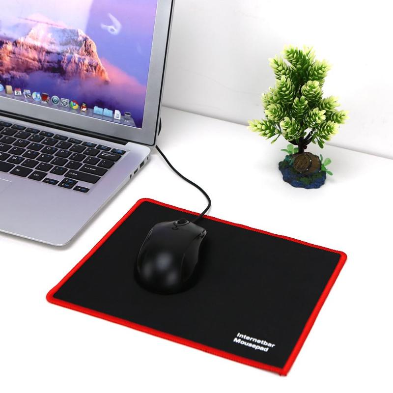 Hot 25*21CM Mouse Pad Black Red Lock Edge Rubber Speed Gaming Mouse Pad For PC Laptop Computer Black Games Mousepad Micepad New