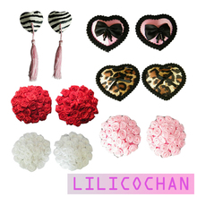 6Choices Sexy Women Nipple Cover Satin Pasties Milk Paste Disposable Breast Petals Sticker Summer Fashion