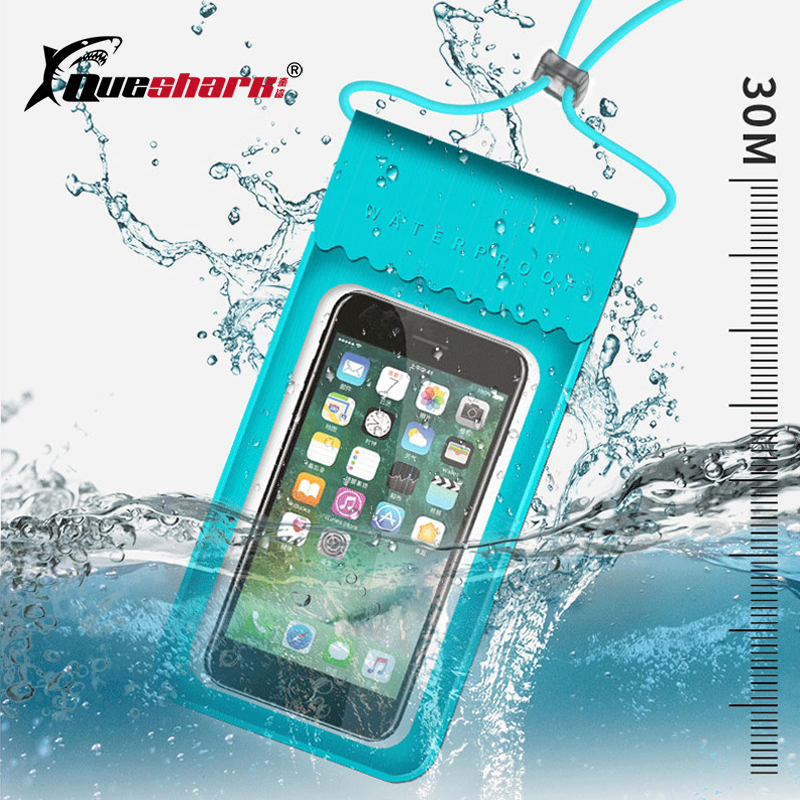TPU Waterproof HD Mobile Phone Bag Outdoor Touch Screen Swimming Bag Phone Case Cellphone Pouch Holder For Water Sports
