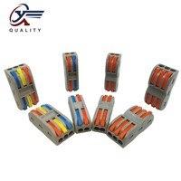 جديد اللون Wago نوع 50 قطعة السلامة الكهربائية الأسلاك محطات المنزلية سلك بعقب الفاصل موصل كليب سريع العزل
