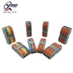 Nuovo Colore Wago Tipo 50 PCS di Sicurezza Terminali di Cablaggio Elettrico Per Uso Domestico Testa Filo del Connettore del Divisore Clip Veloce di Isolamento